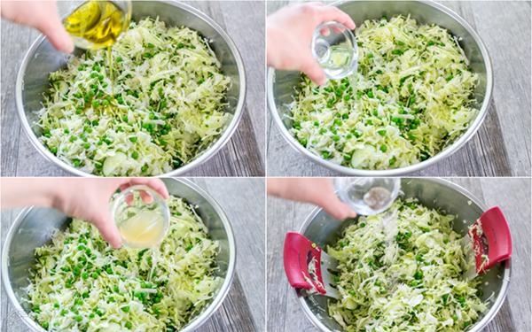 Рецепт салата с огурцом и зеленым горошком
