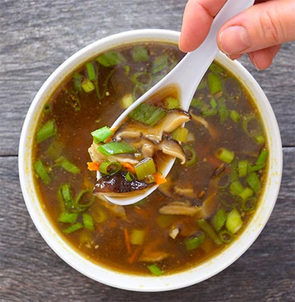 Грибной суп шиитаке